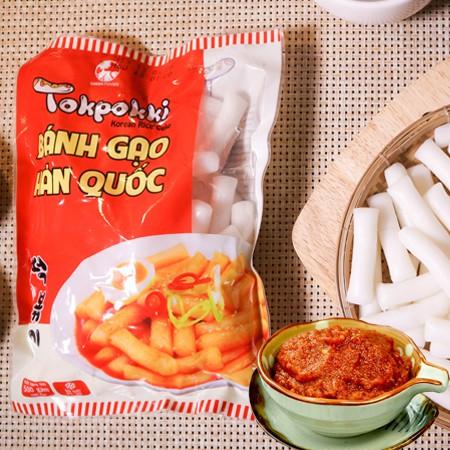 [Mã NOWSHIPVUI1 giảm 25k đơn 50k] COMBO 500g Bánh Gạo Tokbokki Hàn Quốc kèm 100g sốt tương ớt Hàn Quốc