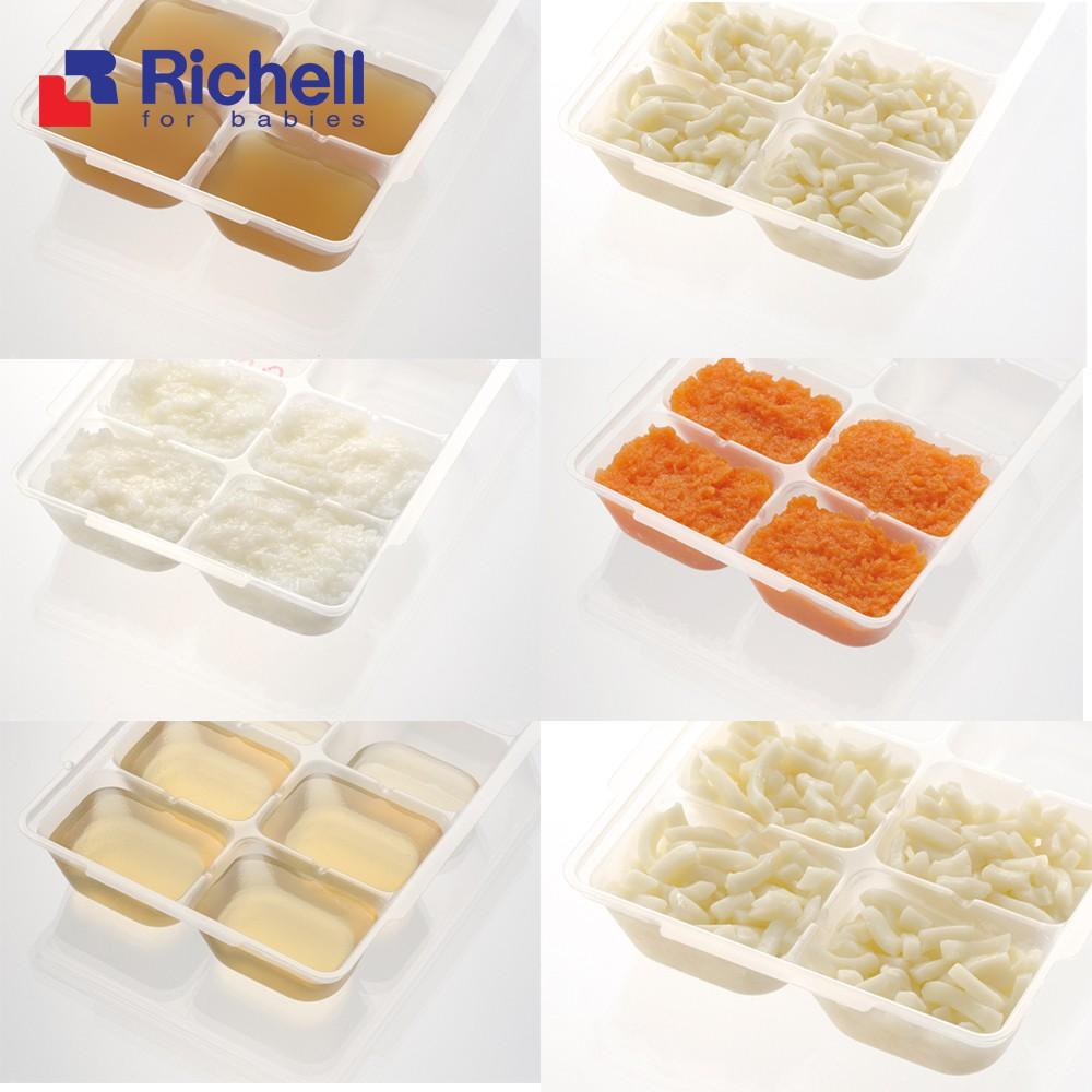 Khay trữ đông Richell có nắp 15ml,25ml,50ml (set 2 cái)