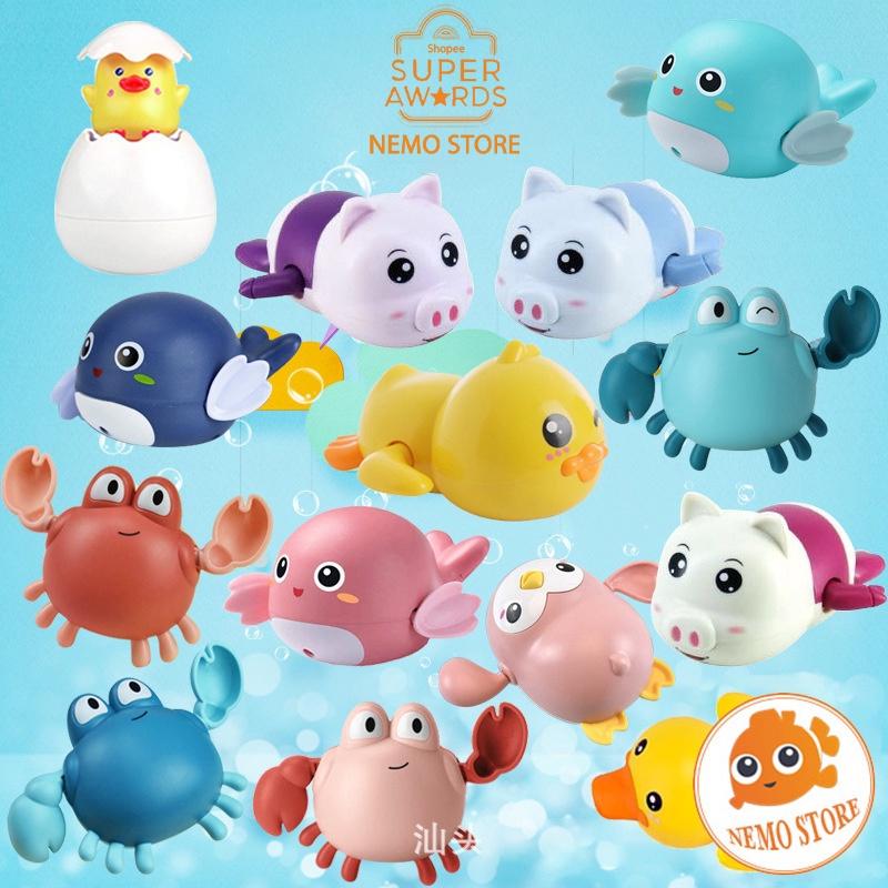 Đồ chơi nhà tắm cho bé Rùa bơi trong nước, cá, cua, heo, vịt đủ loại cho trẻ