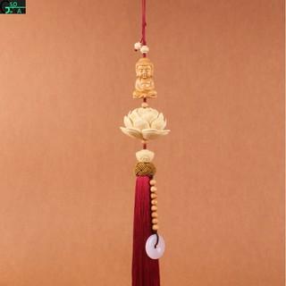 Dây Treo Phật Tọa Liên Hoa Đại Đóa Treo Gương Ô Tô , Khánh Phật Mộc Liên Trang Trí Xe Hơi
