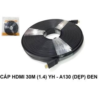 CÁP HDMI 1.4 ( 30m) YH- A130(dẹp) đen