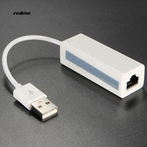 Bộ Chuyển Đổi Usb 2.0 Đầu Đực Sang Rj45 Ethernet Lan 10 / 100 Mbps Cho Notebook