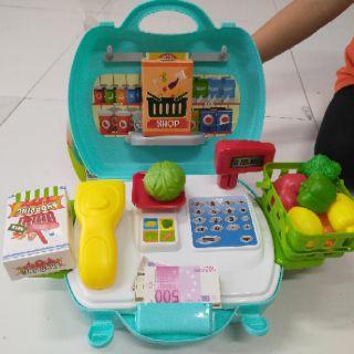 [HÀNG ĐẸP GIÁ TỐT]đồ chơi cho bé – Bộ đồ chơi bán hàng Organic cho bé