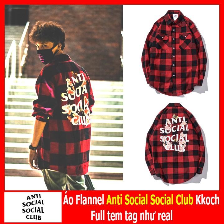 4f07c691fefe Áo Flannel Anti Social Social Club Kkoch