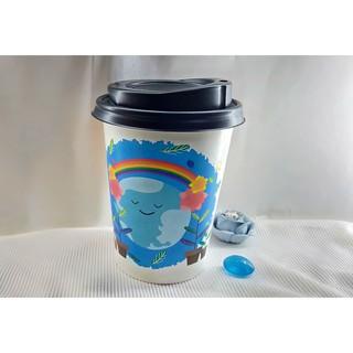 50 Ly Giấy In Hình Bảo Vệ Môi Trường 14oz 360ml Có Nắp Ly giấy cafe Ly giấy đựng cà phê Cốc giấy Cốc giấy cafe thumbnail