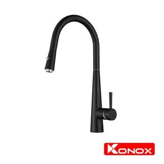 Vòi rửa bát rút dây KONOX KN1901B hợp kim đồng 61% tiêu chuẩn Châu Âu CW617N, bề mặt xử lý công nghệ Brushed Nickel
