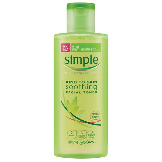 Nước hoa hồng Simple Kind To Skin Soothing Facial Toner - 3450554 , 723875645 , 322_723875645 , 280000 , Nuoc-hoa-hong-Simple-Kind-To-Skin-Soothing-Facial-Toner-322_723875645 , shopee.vn , Nước hoa hồng Simple Kind To Skin Soothing Facial Toner