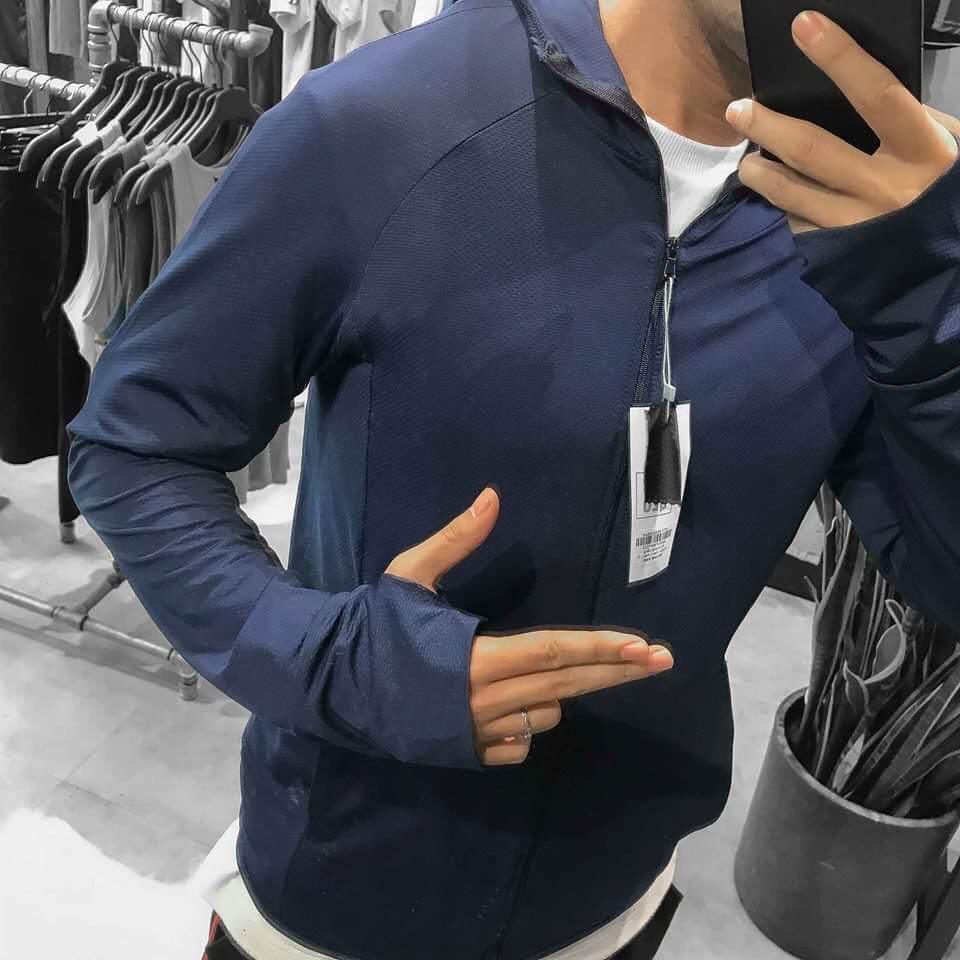 Áo chống nắng nam, áo khoác nắng nam chất vải thông hơi có mũ trùm