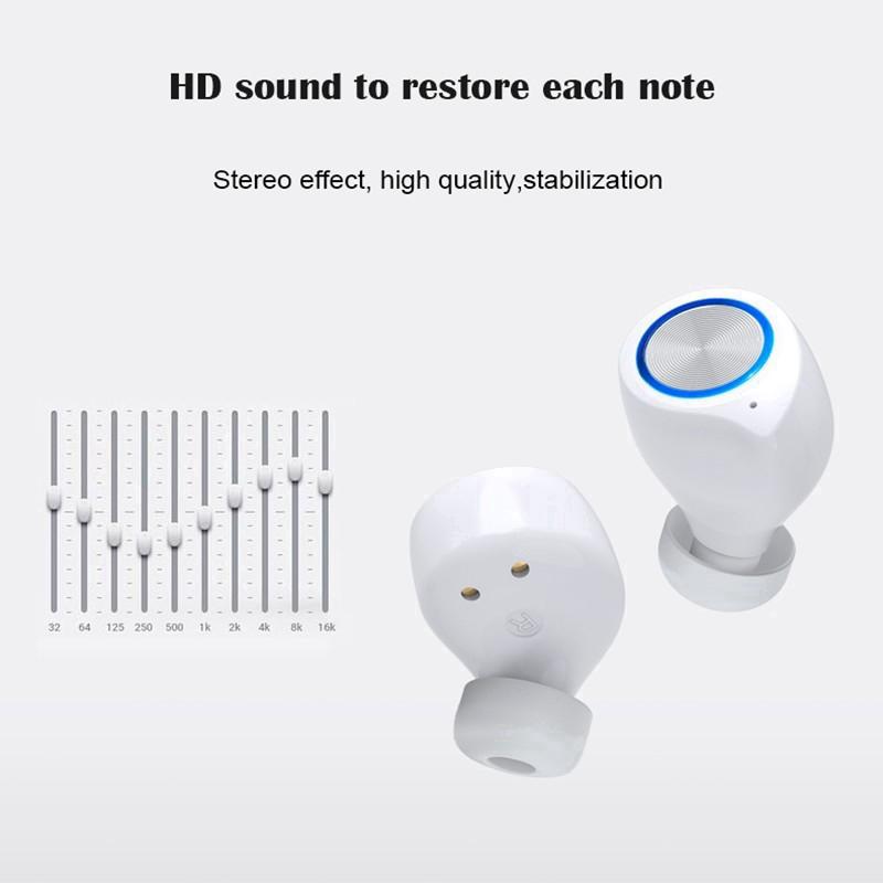 【Mới nhất】 Tai nghe Bluetooth nguyên bản 100% không dây cảm ứng không thấm nước Điều khiển chống nước