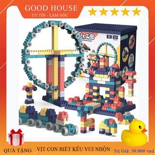 Lego xếp hình phát triển trí tuệ trẻ em - Đồ chơi lắp ghép phát triển trẻ toàn diện có phân loại 260ct, 360ct, 520ct