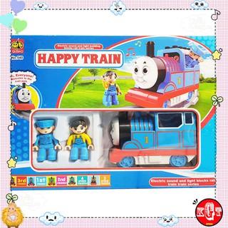 Đồ Chơi Mô Hình Tàu Hỏa Và Đường Ray Happy Time (Thomas Mini, Đường Ray 57.5×57.5cm)