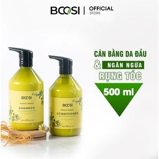 Combo Dầu gội dầu xả năng lượng cân bằng da đầu và ngăn ngừa tóc gãy rụng Bcosi Energy Boost thumbnail