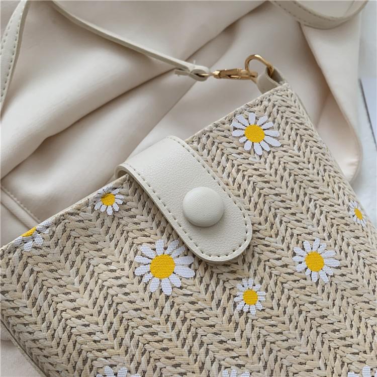Túi cói đeo vai Hàn Quốc - Túi cói đi biển