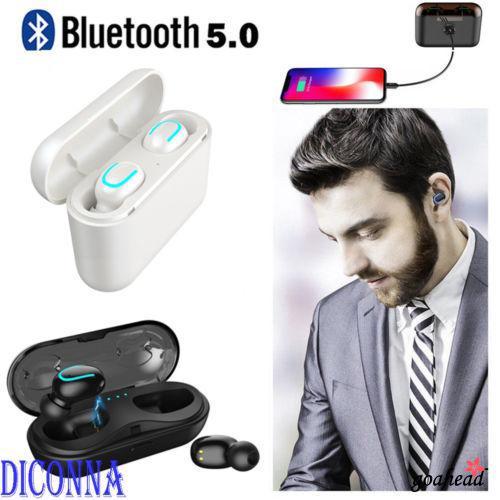 Tai nghe nhét tai Bluetooth 5.0 tương thích với âm thanh stereo siêu trầm 0a8-portable