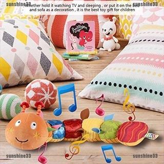 【sunshine33】Baby Toy Caterpillar Music Rattle And Ringtone Cute Cartoon Animal