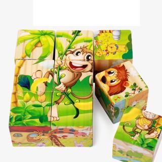 Bss! Combo 13 Đồ chơi xếp hình 6 mặt 9 khối bằng gỗ Best!!