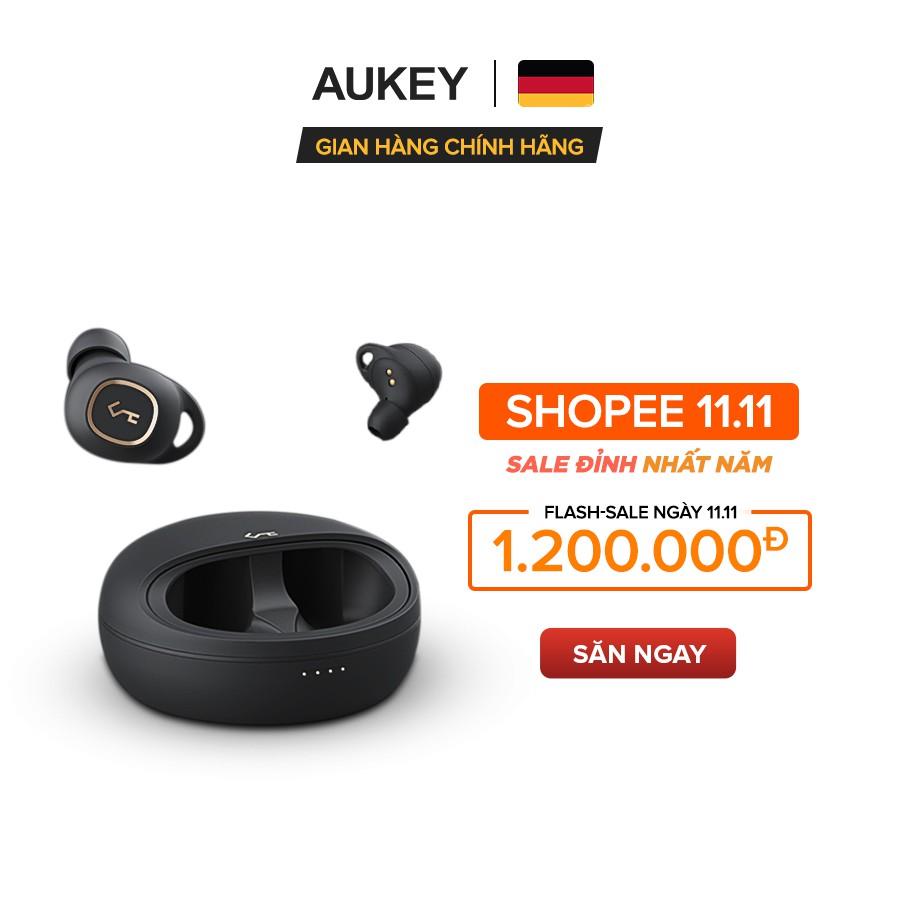 [Mã ELMALL11 giảm 6% đơn 500K] Tai Nghe True Wireless AUKEY EP-T10, BT 5.0, Xoay 360 Độ, Chống Nước IPX5, Pin Tới 24H