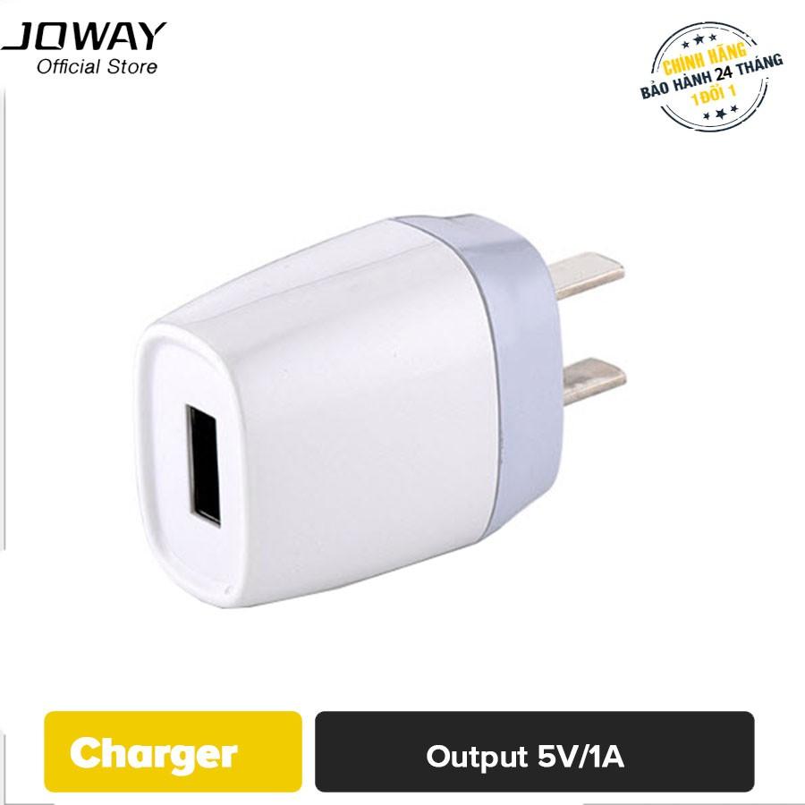 Củ sạc Joway JC12 một cổng USB cho điện thoại, máy tính bảng - Hãng phân phối chính thức