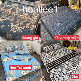 [SIÊU SALE] Bộ chăn hè ga gối cottong poly ga trải giường  chăn ga gối 5 món đủ kích thước cập nhật mẫu 2021
