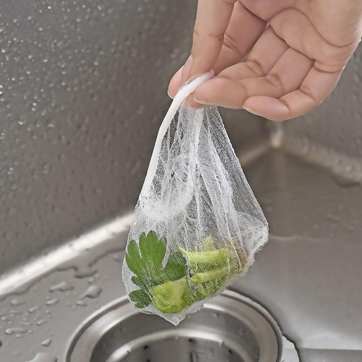 Combo 100 túi lưới lọc rác bồn rửa chén tiện ích đa năng