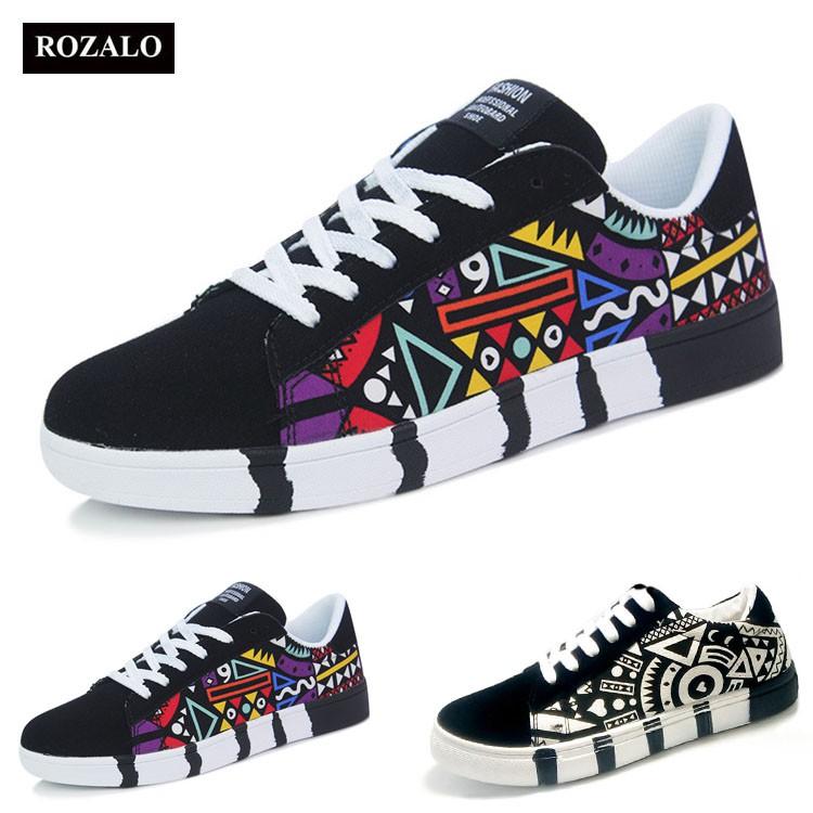 Giày sneaker thời trang nam in họa tiết Rozalo RM5662