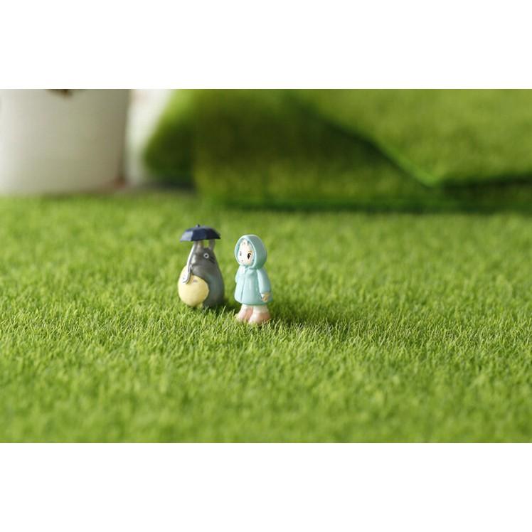 Cỏ miếng 15x15cm, cỏ miếng nhân tạo 30x30 cm, phụ kiện tiểu cảnh Thảm cỏ nhân tạo trang trí tiểu cảnh sân vườn
