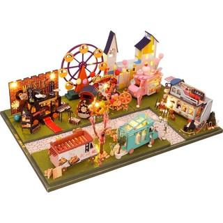 Kèm Mica và keo dán – Mô hình nhà gỗ búp bê Dollhouse DIY – TC8 The Market Bespeoke Prosperity