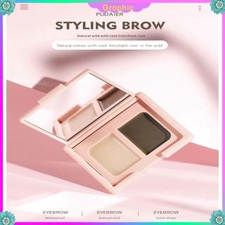 Two-color Double-effect Eyebrow Styling Eyebrow Cream Waterproof And Sweat-proof Eyebrow Blush