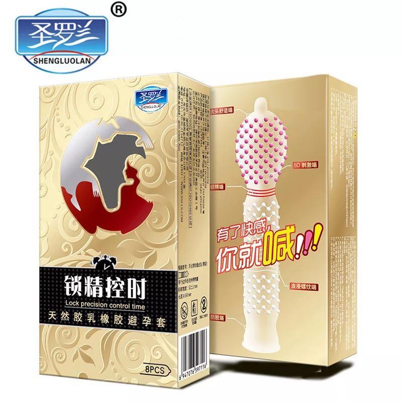 Bao Cao Su Gân Gai Bi 3D - Hộp 8 Chiếc