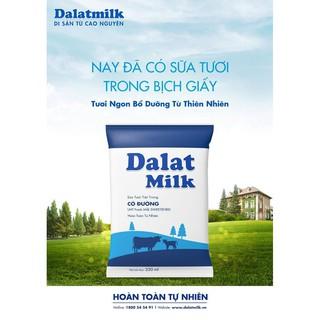 1 thùng Sữa tươi bịch có đường Đà Lạt milk 220ml