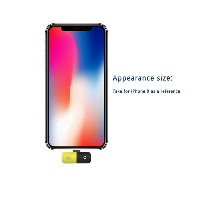 Đầu chia cáp sạc thiết kế 2 trong 1 cho iPhone 7 / 8 X Plus