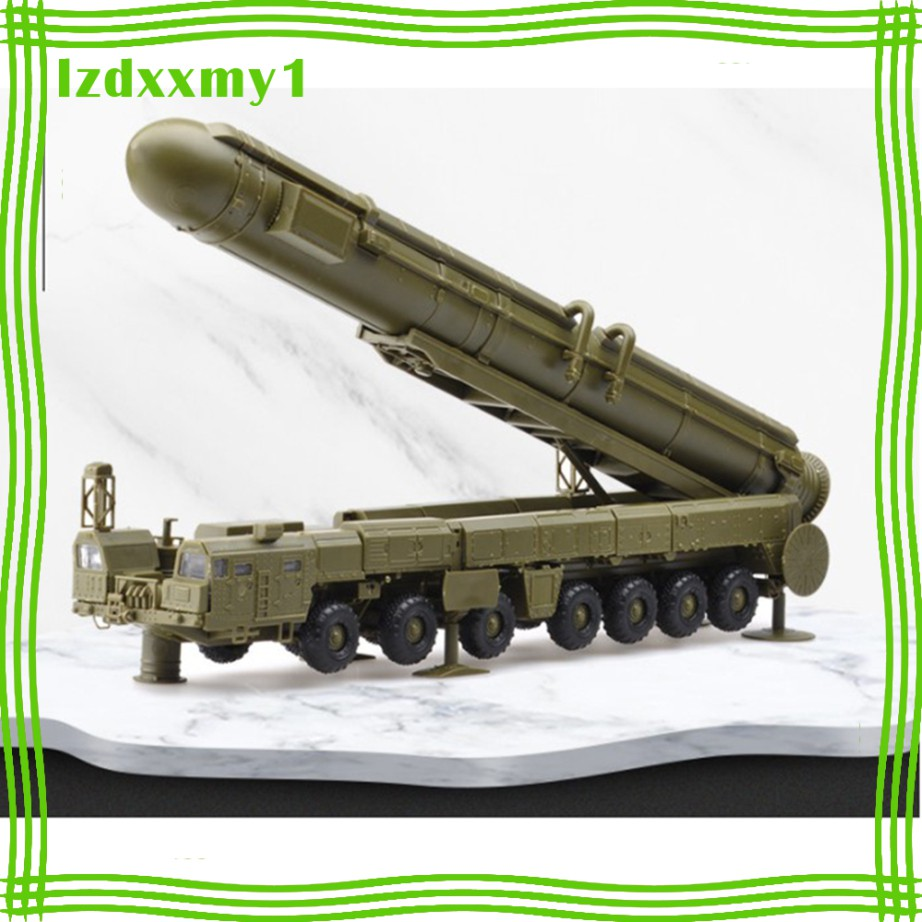 1/72 4D Green DIY Model Russia White Poplar Missile Launch Vehicle Toy