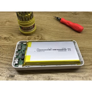 [SIÊU RẺ KST] Combo pin lithium Li-po 10.000mAh + Mạch sạc + Box