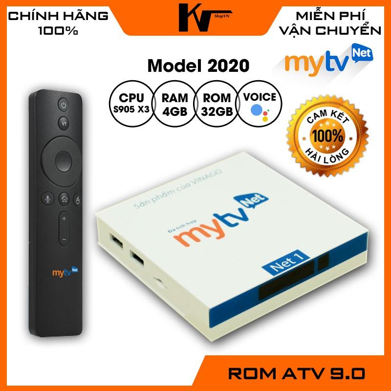 Android TV Box MyTV Net phiên bản 2021, Ram 4GB - Rom 32GB, Khiển Voice, Miễn phí 100 kênh truyền hình bản