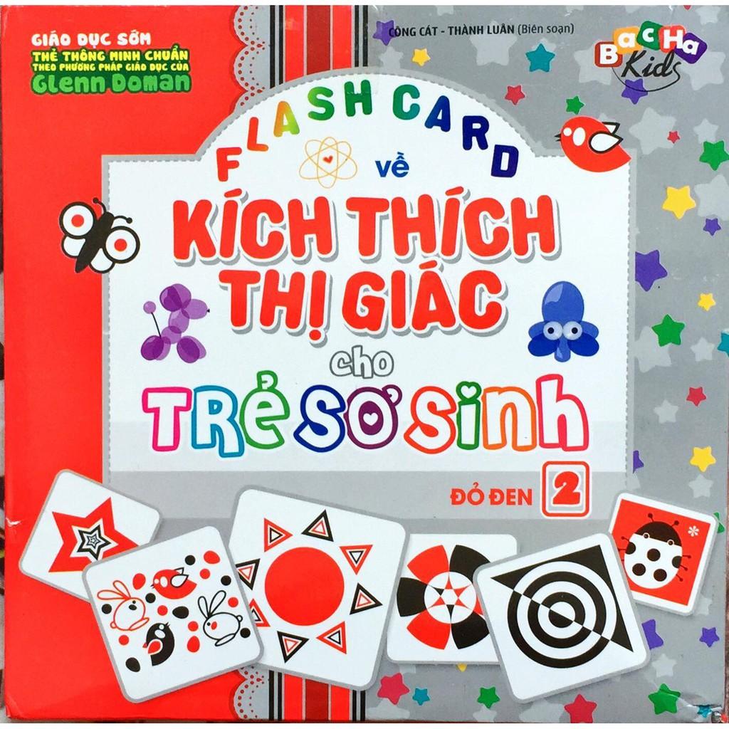 Flash card - Kích thích thị giác cho trẻ sơ sinh - Tập 2 - Đỏ Đen