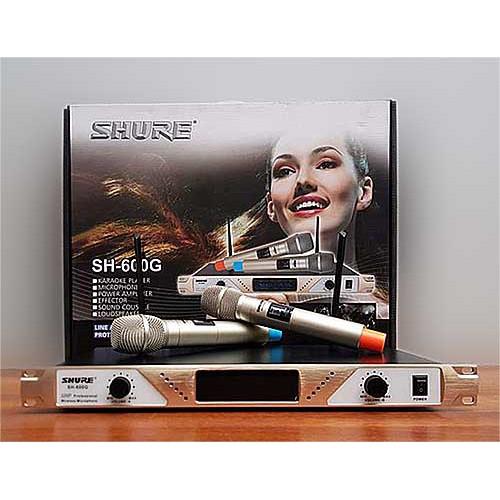 Bộ micro karaoke SHURE SH-600G giá rẻ | Shopee Việt Nam