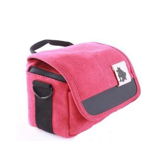 Túi đựng máy ảnh microless vải bố màu đỏ