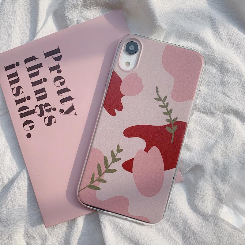 Ốp điện thoại họa tiết bông hoa chống rơi dành cho iPhone XR Iphone X 7 8 plus