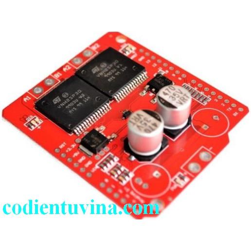 Module Arduino Motor Shield VNH2SP30 30A hai mạch cầu H
