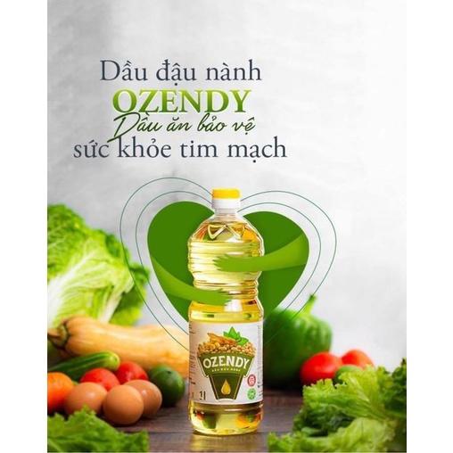 12 chai dầu ăn đậu nành ozendy Nga 1 lít date 2022