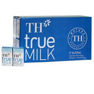 Sữa tươi TH Truemilk ít đường thùng 180ml