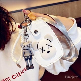 KAWS Túi Đựng Thẻ Kèm Móc Khóa Thời Trang Dành Cho Nữ