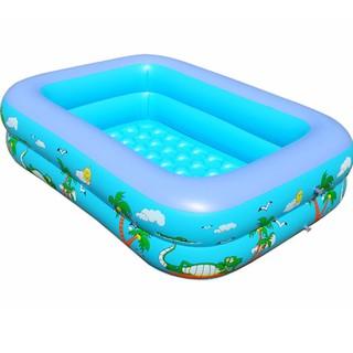 [Sỉ] Bể bơi phao bơi 2 tầng 1,2m cho bé – Tặng keo vá bể (1.2m)