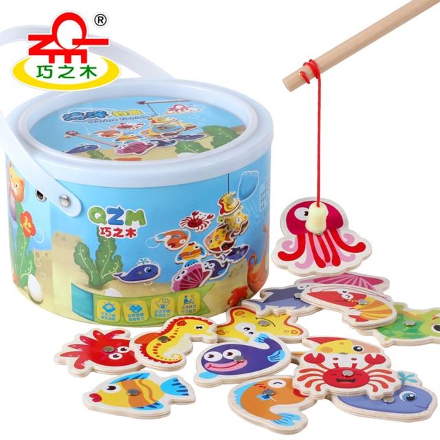 Bộ đồ chơi câu cá bằng gỗ cho bé từ 2-4 tuổi vừa an toàn lại phát triển trí tuệ - 3216760 , 818350547 , 322_818350547 , 180000 , Bo-do-choi-cau-ca-bang-go-cho-be-tu-2-4-tuoi-vua-an-toan-lai-phat-trien-tri-tue-322_818350547 , shopee.vn , Bộ đồ chơi câu cá bằng gỗ cho bé từ 2-4 tuổi vừa an toàn lại phát triển trí tuệ