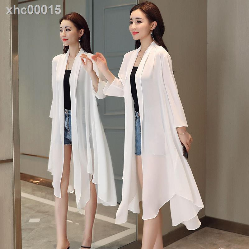 Áo Khoác Cardigan Vải Chiffon Thiết Kế Lệch Tà 2021 Cho Nữ