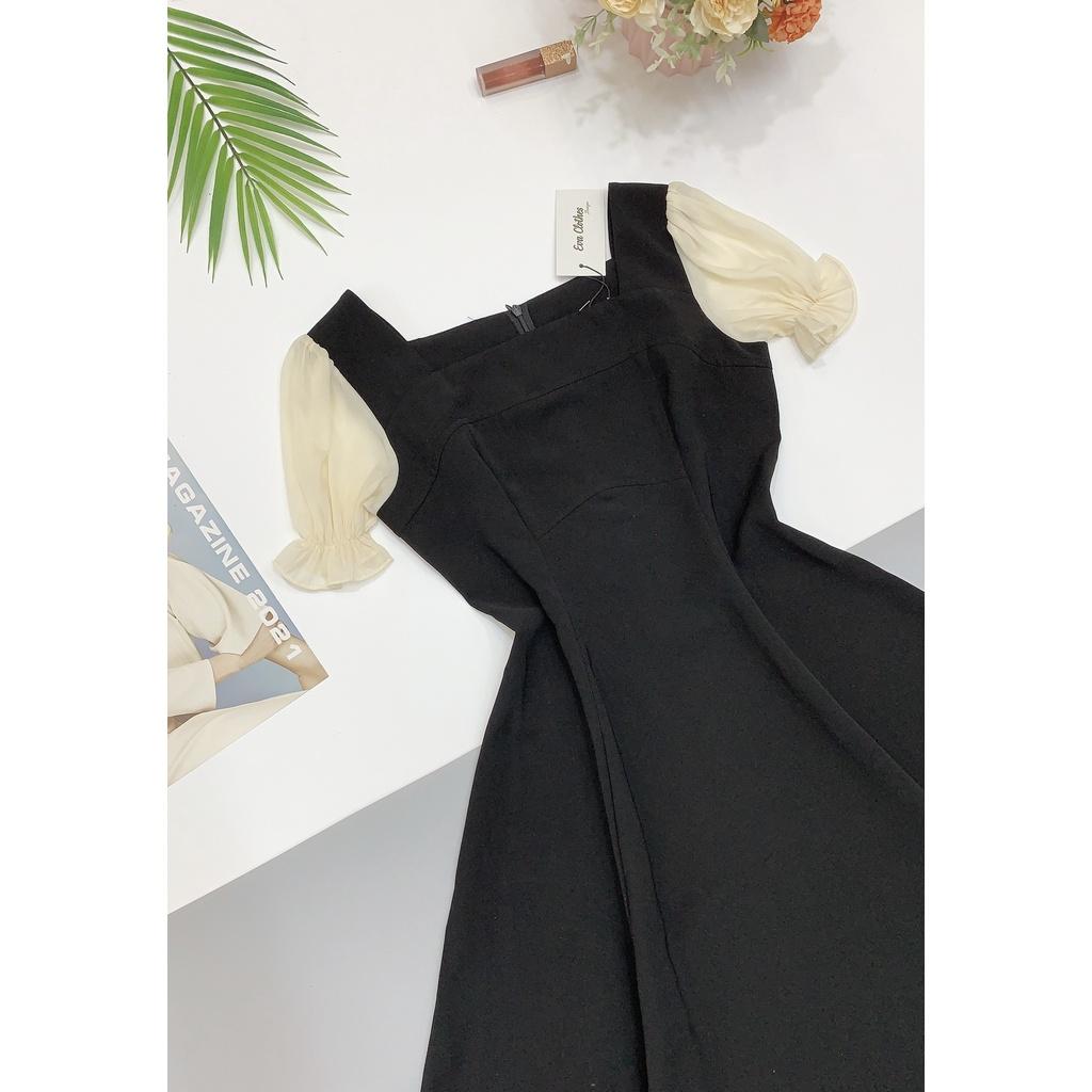 Mặc gì đẹp: Tung bay với Váy Xòe,Công Sở Cổ Vuông Tay Voan Chun EvaLover