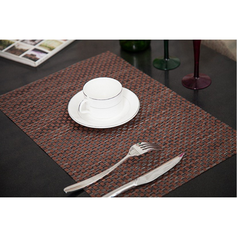 Tấm lót bàn ăn nhà hàng màu đỏ đồng