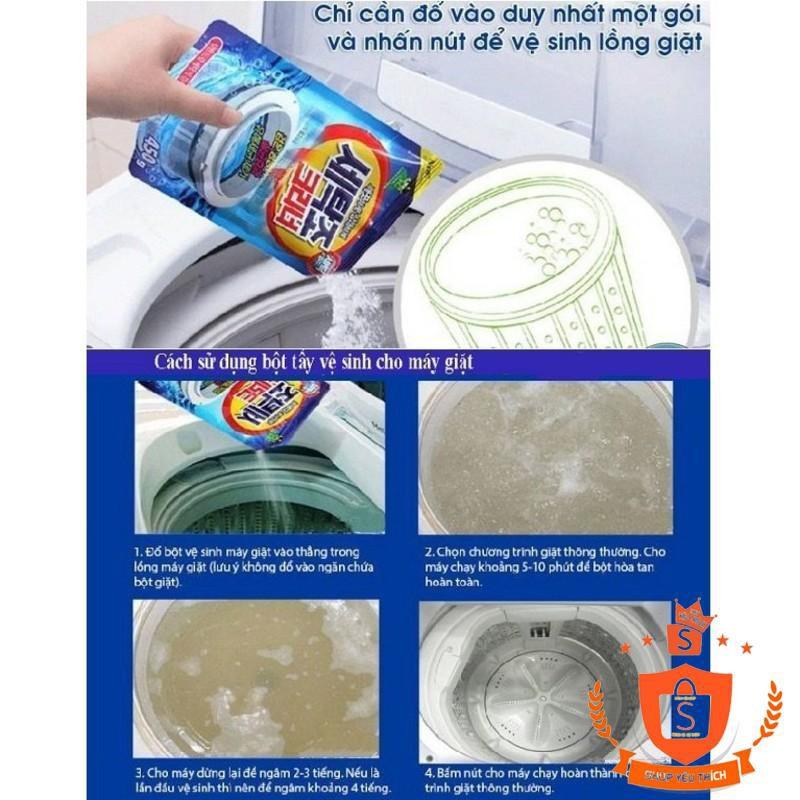 [ẢNH THẬT]  Combo 5 gói bột tẩy lồng giặt siêu sạch