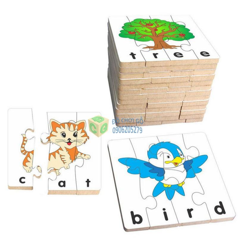 Đồ chơi gỗ – ghép hình học chữ TA- 1 bộ 15 hình ghép winwintoys
