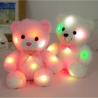 Gấu nhồi bông dễ thương phát sáng màu hồng